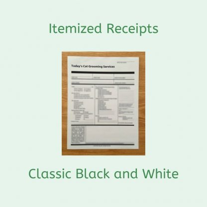 Classic Black and White Itemized Receipts by Deborah Hansen, CFMG, CFCG