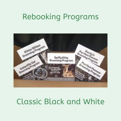 Rebooking Cat Grooming Programs, Classic Black and White